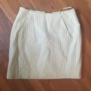 Dresses & Skirts - Yellow and white pattern skirt